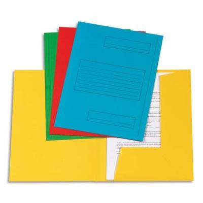 Chemise 2 rabats avec cadre d'indexage 5 Etoiles - Kraft 160 g - coloris assortis - paquet de 50 (photo)
