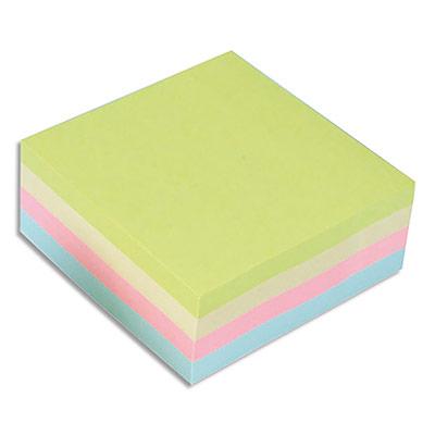 Bloc cube notes repositionnables 5 Etoiles - coloris assortis pastels - 76 x 76 mm - bloc de 320 feuilles (photo)