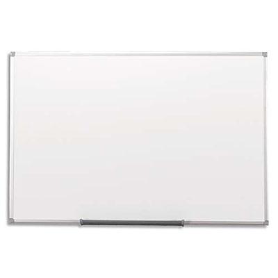 tableau blanc magnetique laqu 5 etoiles cadre alu gris 90x120 cm achat pas cher. Black Bedroom Furniture Sets. Home Design Ideas