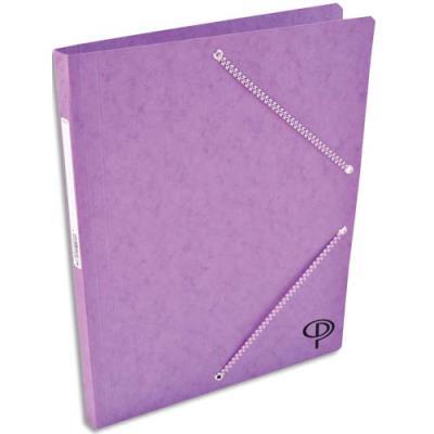 Chemise 1er prix simple a elastique + etiquette - violet