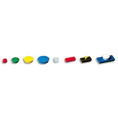 Aimants 5 Etoiles - diamètre 27mm - formats ronds - coloris vert - boite de 5 (photo)