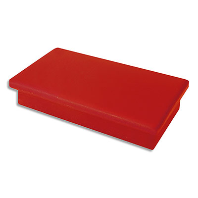 Aimants rectangulaires 1er prix - 1,2 x 2,5 cm - coloris Rouge - plaquette de 7 (photo)