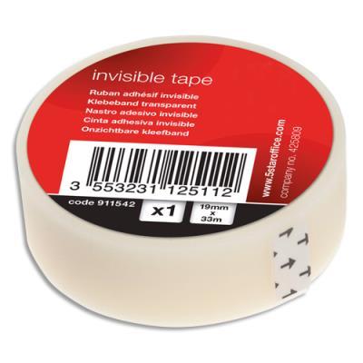 Ruban adhésif invisible 1er prix - 19 mm x 33 m - en boite individuelle