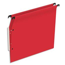 Dossiers suspendus en kraft rouge 1er prix - pour armoire - fond V - boite de 25