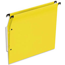 Dossiers suspendus en kraft jaune 1er prix - pour armoire - fond V - boite de 25