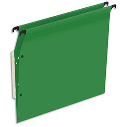Dossiers suspendus en kraft vert 1er prix - pour armoire - fond V - boite de 25