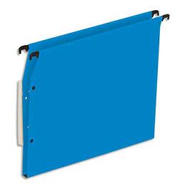 Dossiers suspendus en kraft bleu 1er prix - pour armoire - fond 15 mm - boite de 25