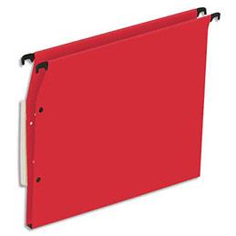Dossiers suspendus en kraft rouge 1er prix - pour armoire - fond 15 mm - boite de 25