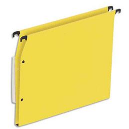 Dossiers suspendus en kraft jaune 1er prix - pour armoire - fond 15 mm - boite de 25