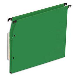Dossiers suspendus en kraft vert 1er prix - pour armoire - fond 15 mm - boite de 25