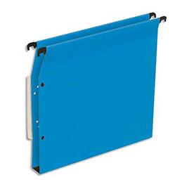 Dossiers suspendus en kraft bleu 1er prix - pour armoire - fond 30 mm - boite de 25