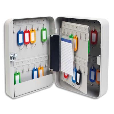 Armoire à clés - capacité 45 clés - couleur beige (photo)