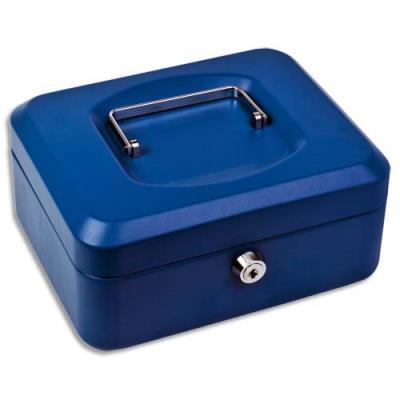 Caisse à monnaie éconoique en tôle d'acier 10/10e - bleu - 30 x 10,1 x 21,7 cm (photo)
