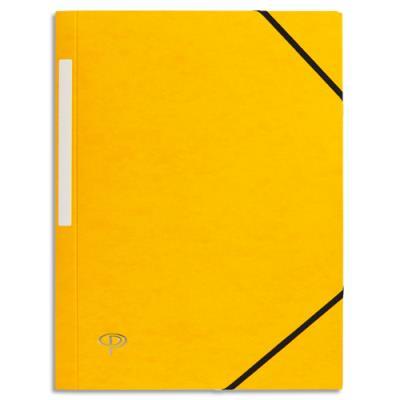 Chemise 1er prix 3 rabats et élastique - carte 5/10e - jaune (photo)