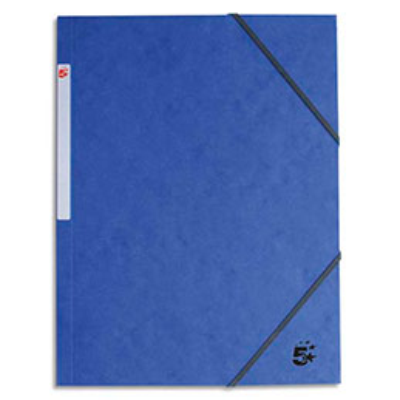 Chemise 1er prix 3 rabats et élastique - carte 5/10e - bleu foncé (photo)