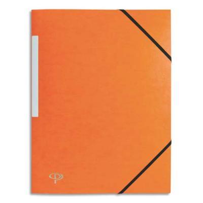 Chemise 1er prix 3 rabats et élastique - carte 5/10e - orange