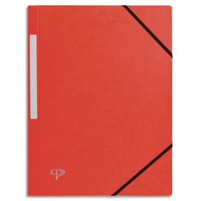 Chemise 1er prix 3 rabats et élastique - carte 5/10e - rouge