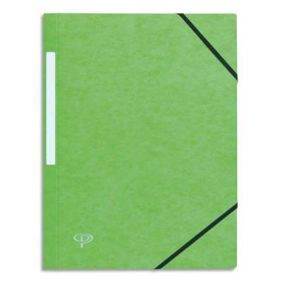 Chemise 1er prix 3 rabats et élastisques - carte 5/10e - vert clair (photo)