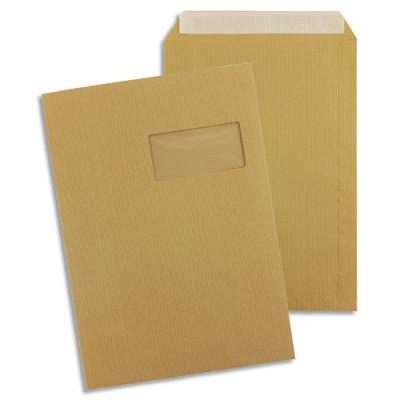Pochettes 229x324 1er prix - fenêtre 50x100 - Kraft brun - auto-adhésives - 90g - boîte de 250 (photo)