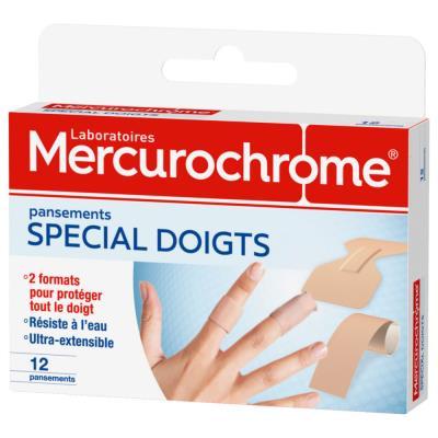 Pansements doigts Mercurochrome - boîte de 12 (photo)