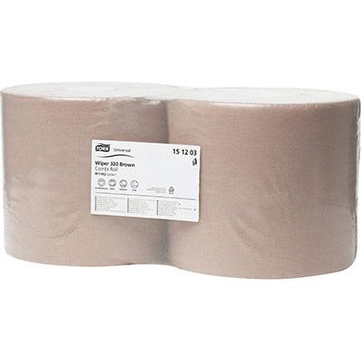Bobine essuyage - recyclé - 1 000 feuilles - 230 mm - coloris chamois - paquet 2 x 1000 feuilles (photo)