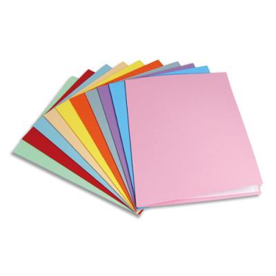 Chemise 1er prix en carte recyclée 180 grammes - coloris assortis - paquet de 25