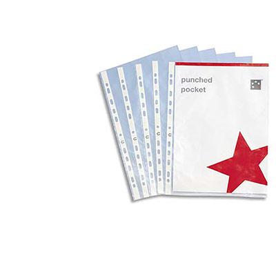 Pochettes perforées - polypropylène 12/100e grainé - perforation 11 trous - boîte de 100 (photo)