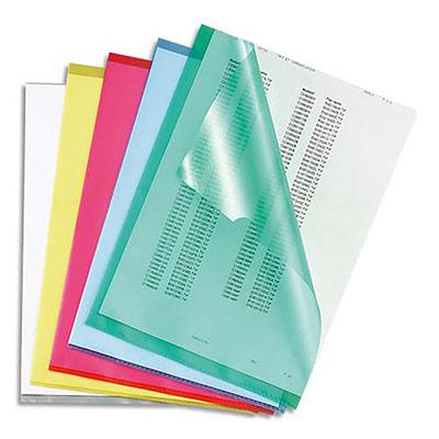 Boite de 100 pochettes-coin 5 Etoiles - polypropylène grainé 14/100e - coloris translucides assortis (photo)
