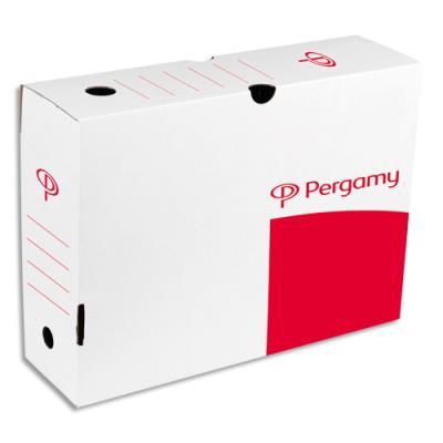 Boîte à archives 1er prix - dos 10 cm - montage automatique - kraft blanc (photo)