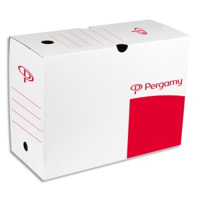 Boîte à archives 1er prix - dos 20 cm - montage automatique - kraft blanc (photo)