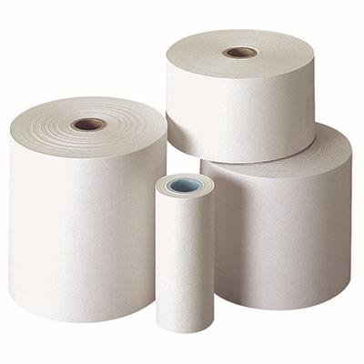 Bobine calculatrice - 57 x 70 x 12 mm - papier chimique autocopiant 2 plis 57G/M² - longueur 25 m - paquet 10 x 25 mètres (photo)
