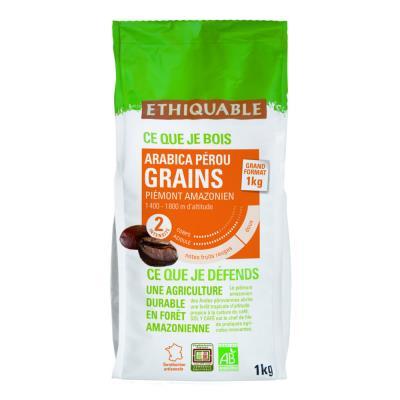 Café grain bio Ethiquable - paquet de 1kg