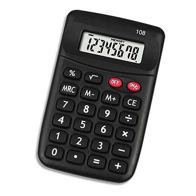 Calculatrice de poche 5 Etoiles HH8D - 8 chiffres (photo)