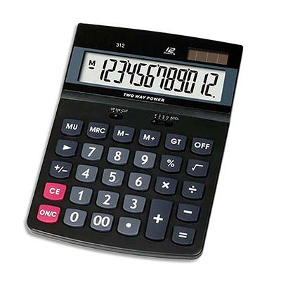 Calculatrice de bureau 5 Etoiles DT12D - 12 chiffres (photo)