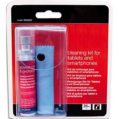 Kit de nettoyage 5 Etoiles pour tablettes et smartphone - spray portecteur 25ml - lingette microfibres (photo)