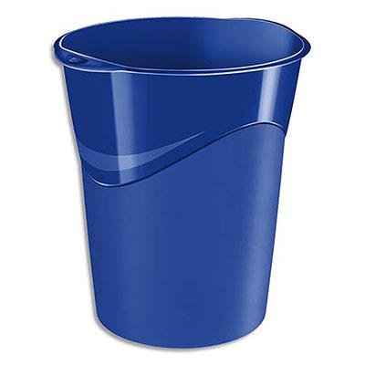 Corbeille à papier 5 Etoiles - 16 litres - bleu roi (photo)