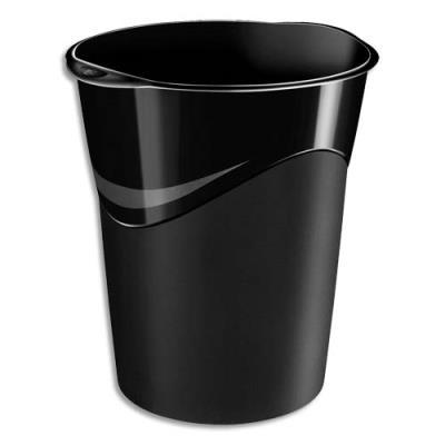 Corbeille à papier 14 litres noir (photo)