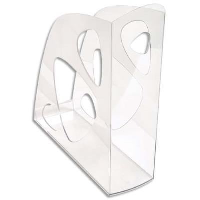 Porte-revues 5 Etoiles en polystyrène - dos 7,7 cm - cristal transparent (photo)