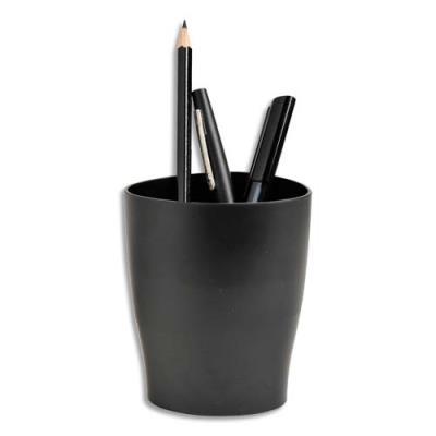 Pot à crayons 1er prix en polystyrène - 1 compartiment - noir