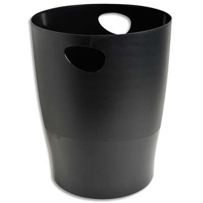 Corbeille à papier 5 étoiles - 15L - noir (photo)