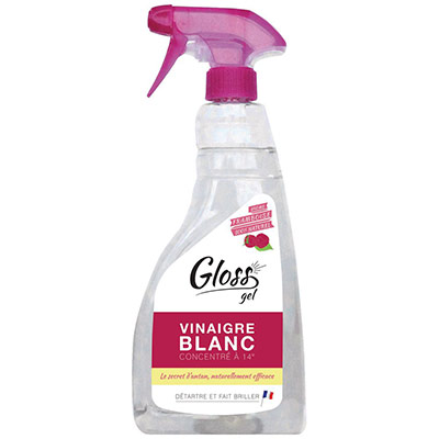 Spray gel vinaigre blanc framboise GLOSS - 750ml (photo)