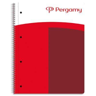 Cahier 1er prix - reliure spirales - 160 pages - 90g - petits carreaux - A4+ - feuilles détachables perforées - couverture rembordée (photo)