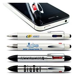 Stylo publicitaire Smartpen : un coté pour tablette, un coté pour écrire (photo)