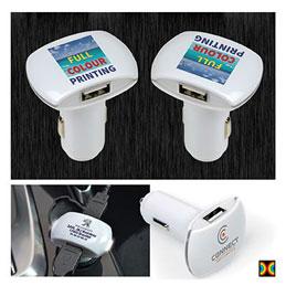 Chargeur de voiture double USB (photo)