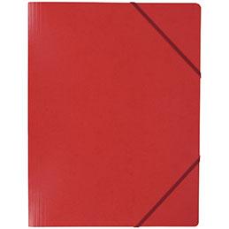Chemise simple à élastique en carte lustrée 5/10e - 390g - 32x24cm -rouge