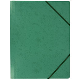 Chemise simple à élastique en carte lustrée 5/10e - 390g - 32x24cm - vert
