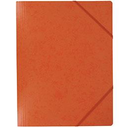 Chemise simple à élastique - en carte lustrée 5/10e - 390g - 32x24cm - orange