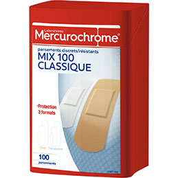 Pansements assortis Mercurochrome - boîte de 100 (photo)