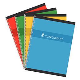 Cahier à reliure intégrale Conquerant - 24x32com - 180 pages - seyes - 70g (photo)