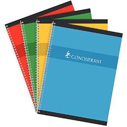 Cahier à reliure intégrale Conquerant - 24x32com - 180 pages - 5x5 - 70g (photo)